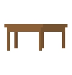 Wooden table icon vector