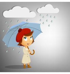 young woman with umbrella vector image