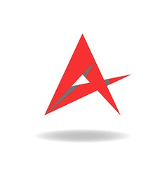 A - letter or idea abstract red star logo vector image