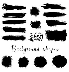black ink borders brush strokes stains banners vector image