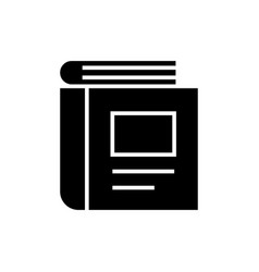 book standing icon black vector image