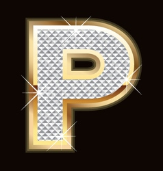 p bling bling vector image vector image