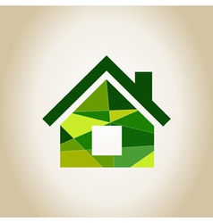 Abstract house vector image vector image