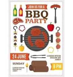 Barbecue and Grill Banner Card vector image vector image