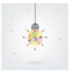 Creative light bulb Idea vector image vector image