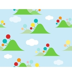 Kids islands seamless wallpaper vector image