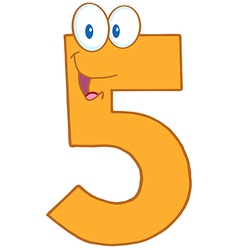 Number Five vector image