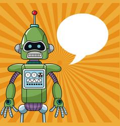 Robot machine engineering bubble speech vector