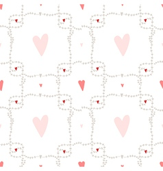 seamless pattern with square wreath element vector image