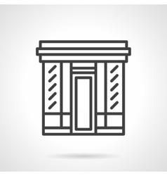 Book store facade simple line icon vector image