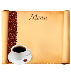 coffee menu background vector image