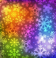 Different blue snowflakes set Abstract seamless vector image vector image