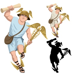 Hermes on White vector image vector image