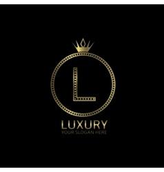 Luxury golden label vector image