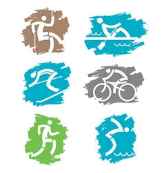 Outdoor sport grunge icons vector image vector image
