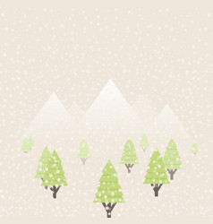 snow in the woods vector image vector image