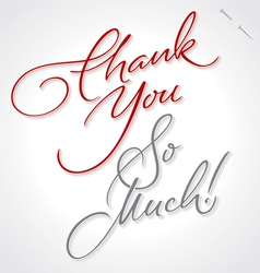 THANK YOU VERY MUCH hand lettering vector image vector image
