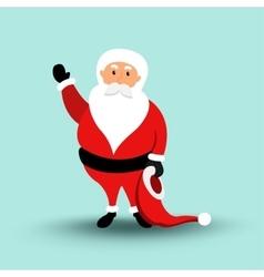 Cartoon Santa Claus Merry Christmas and Happy New vector image vector image