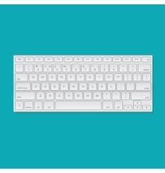 Computer keyboard isolated vector image vector image
