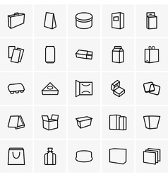 Package icons vector image vector image