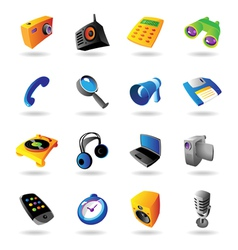 Realistic icons set for various devices vector image vector image