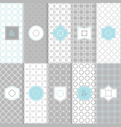 white and gray modern tile texture pattern set vector image vector image