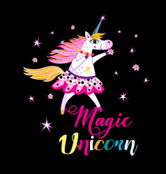 a cheerful unicorn vector image