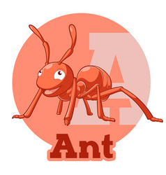Abc cartoon ant vector