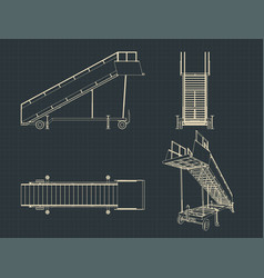 airplane ladder drawings vector image