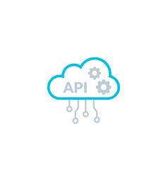 api cloud integration icon data process flat vector image
