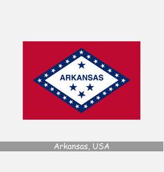 Arkansas usa state flag ar usa vector