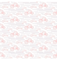 Baby seamless pattern Pastel pink fun vector image