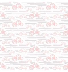Baby seamless pattern Pastel pink fun vector image vector image
