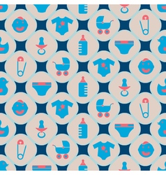 Background with baby stuff vector