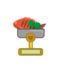 Balance with nutritive food vector