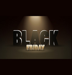 black friday sale dark background with spotlight vector image