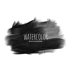 Black watercolor grunge texture stain background vector