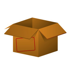 box open isolated vector image