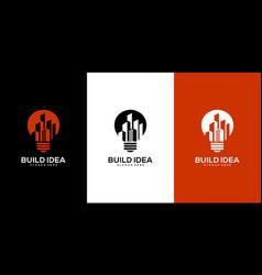 building idea logo design premium vector image