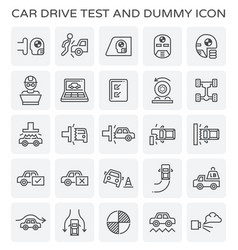 car test icon vector image