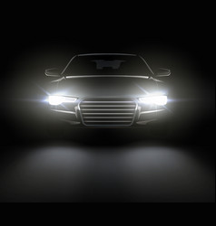 car with lights vector image