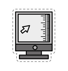 Cartoon computer screen technology image vector