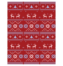 Christmas Knitted wool pattern vector