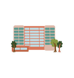 City public building urban architecture design vector