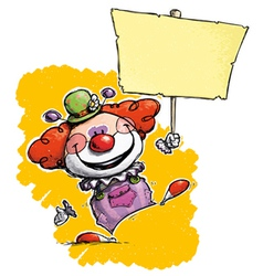 Clown Hoding Plackard vector image