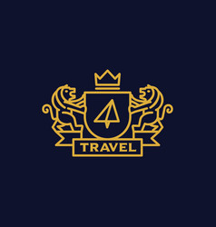 Coat of arms travel vector