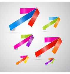 Colorful arrows on grey background vector