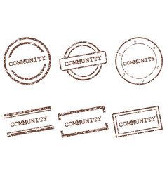 community stamps vector image