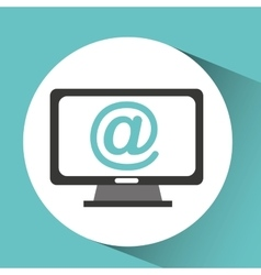 computer device mail network icon vector image