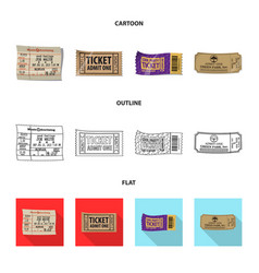 design ticket and admission icon vector image